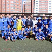 "Фото:  ""Улаанбаатар сити"" баг анх удаа супер цомыг өргөлөө"