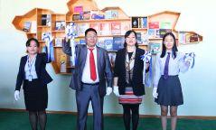 ХХБанк Дорноговь аймгийн Замын-Үүд сумын 1-р сургуулийн номын санг тохижуулж өглөө