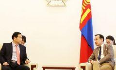 Гадаад харилцааны сайд Д.Цогтбаатар БНСУ-аас Монгол Улсад суугаа Элчин сайдыг хүлээн авч уулзав
