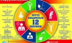 Эрүүл амьдрах 12 зөвлөмж