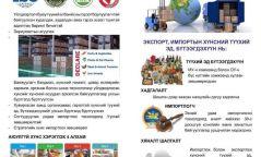 Хүнсний бүтээгдэхүүн, түүхий эд импортлох тухай зөвлөмж
