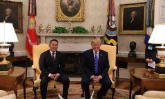 Монгол Улсын Ерөнхийлөгч Х.Баттулгыг АНУ-ын Ерөнхийлөгч Доналд Трамп Цагаан ордонд угтав