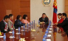 Ерөнхийлөгч  Монголын Тусгай олимпийн тамирчдын төлөөллийг хүлээн авч уулзлаа