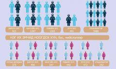 Инфографик: Манай улсад 10000 их эмч ажиллаж байна