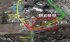 Чингисийн өргөн чөлөөнөөс Яармагийн гүүр хүртэлх замын хязгаарлалтын мэдээ