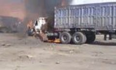 Ганцмодны боомтод нүүрс тээврийн том оврын машин шатжээ
