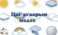 Говийн аймгуудын нутгийн баруун болон хойд хэсгээр бороо, дуу цахилгаантай аадар бороо орно