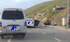 Согтуу жолооч 30 гаруй хүүхэд тээвэрлэж яваад осол гаргажээ