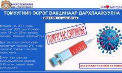 Жирэмсэн эх, 2-11 насны хүүхдүүдэд томуугийн эсрэг вакцин хийж эхэллээ