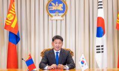"""Монгол, БНСУ-ын харилцааг """"Стратегийн түншлэл""""-ийн түвшинд дэвшүүлэн хөгжүүлэхээр тохиролцож, Хамтарсан тунхаглал гаргав"""