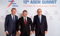 ФОТО: Ерөнхийлөгч АСЕМ-ын дээд хэмжээний уулзалтад оролцож байна